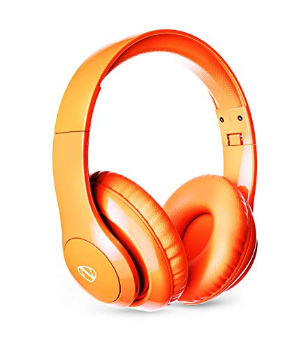 - NCredible1 Bluetooth Wireless Headphones Hi-Fi Stereo Tuned by Nick Cannon, Portable Foldable Headset, Adjustable Padded Headband, Soft Ear Cushions, Built-in Mic, Ear Cup Controls (Neon Orange)