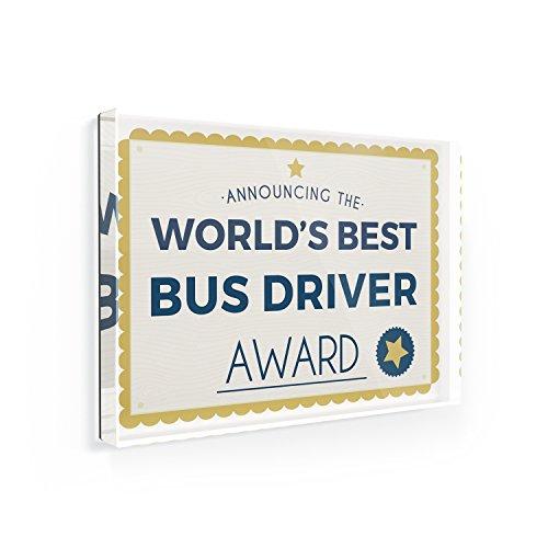 Fridge Magnet Worlds Best Bus Driver Certificate Award - NEONBLOND Worlds Best Bus Driver