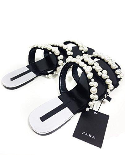 Zara Damen Pantolette mit schmuckperlen 2600/201