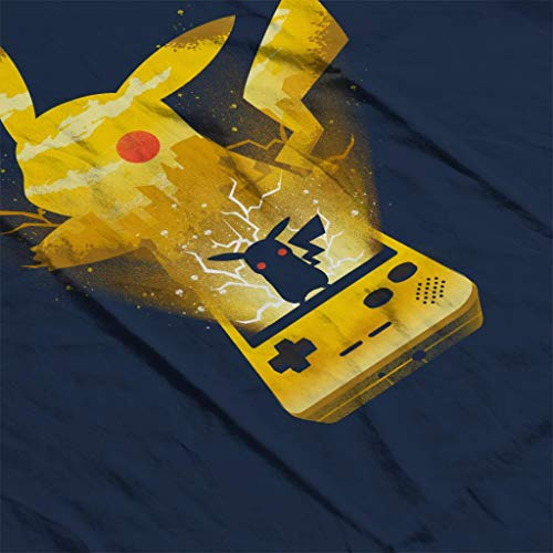 7 Pikachu Men's Navy Sweatshirt Silhouette Cloud Yellow Blue Pokemon City w1qYOPI