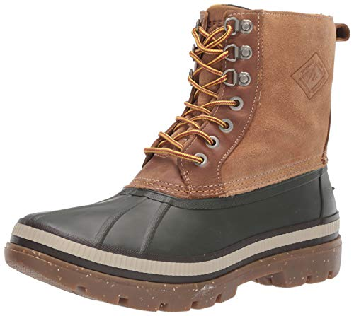 Sperry Mens Ice Bay Boot Boots, Olive/Tan, 10.5