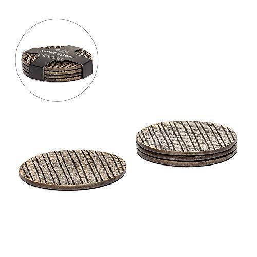 Torre & Tagus 910692B Impression Coasters Silver [並行輸入品]   B07J4JRWNC