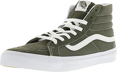 Vans Sk8-Hi Slim Suede und Canvas Traubenblatt / True White Knöchelhoher Skateboardschuh - 10M 8.5M