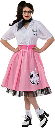 Women's Plus-Size 50's Pink Poodle Skirt, Pink, X-Large
