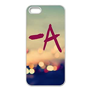 A in neon light Cell Phone Case for iPhone 5S