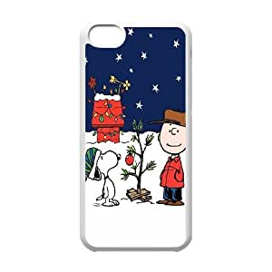 Peanuts Charlie Brown Christmas iPhone 5c Cell Phone Case White Exquisite gift (SA_660894)