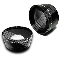 58MM 0.45X Wide Angle Lens + Macro & 2X Telephoto Lens Includes, Lens Caps, Lens Bag and DavisMAX FiberCloth for Canon Rebel EOS T2i T3i T1i XT XS XSi XTi T3 & MORE!