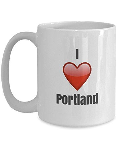 I Love Portland unique ceramic coffee mug Gifts Idea