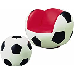 Crown Mark Soccer Chair/Ottoman