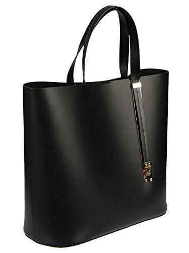 Sophie Hulme Borsa Shopping Donna BG268LEBLACK Pelle Nero