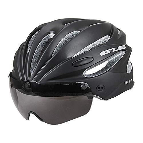 CARWORD Casco De Bicicleta con Gafas Magnéticas Desmontables Bicicleta De Carretera Cascos De Seguridad para Adultos...