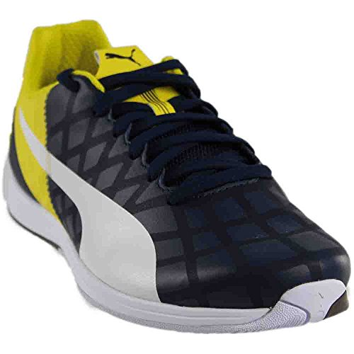 PUMA Evospeed 1.4 Scuderia Ferrari Fashion Sneaker Shoe - Dress Blues/White/Vibrant Yellow - Mens - - Scuderia Puma