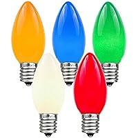 Novelty Lights 25 Pack C9 Ceramic Outdoor String Light...