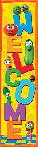 """Eureka Veggietales Vertical Classroom Banner, Welcome, Measures 45 x 12"""""""