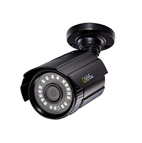 Q-See Home 1080P Analog HD Add-On Bullet Surveillance Camera, Night Vision, BNC, Indoor and Outdoor, Black (QTH8053BA)