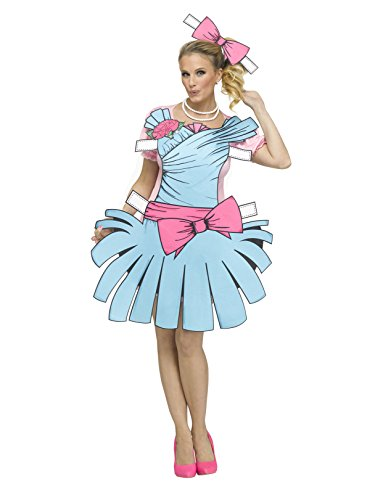 Fun World Women's Paper Doll, Multi, S/M Size 2-8 ()