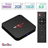 QacQoc M9C max Android 6.0 TV Box 4K New Amlogic S905X Chipset-Quad Core [2G/16G] with HDMI 2.0 Video Decoder 4k.2k Output -Support Ultra Fast Running Speed -2.4G WIFI Smart Android BOX