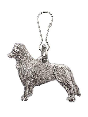 Border Collie (Standing) Made in U.K Artistic Style Dog Zip Pull Collection