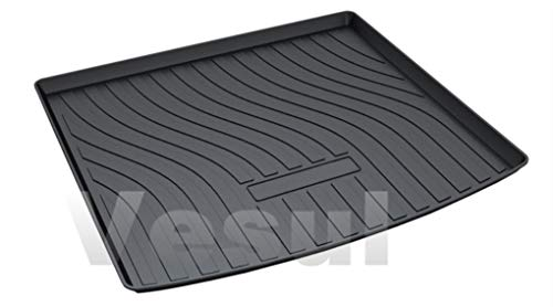 (Vesul Rubber Rear Trunk Cover Cargo Liner Trunk Tray Carpet Floor Mat Compatible with Porsche Cayenne 2019)