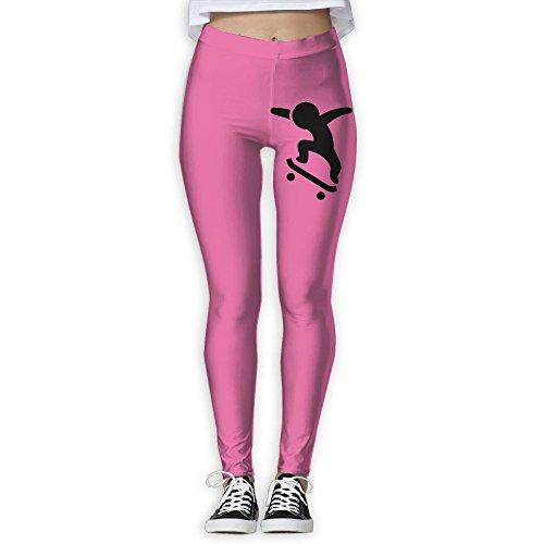 PopStoreofu Skateboard Skater2 Women's Yoga Sports Length Pants Thin Pantalettes