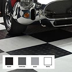 Modular Garage Flooring -- Black & White by MotoFloor