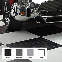 Modular Garage Flooring -- Black & White by MotoFloor