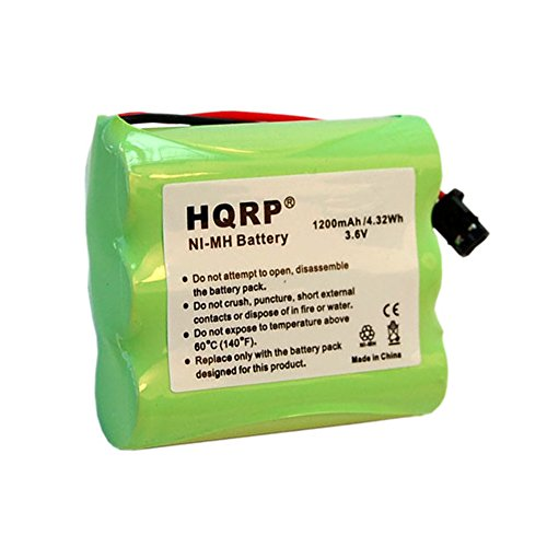 Extended Cordless Phone Battery - HQRP Cordless Phone Battery for Uniden BT-1006 / BT1006 Replacement / Extended / High-capacity / plus Coaster