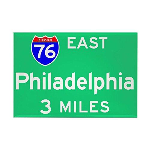 CafePress - Philadelphia PA, Interstate 76 East Rectangle Magn - Rectangle Magnet, 2