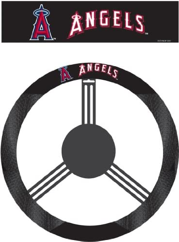 MLB Anaheim Angels Poly-Suede Steering Wheel Cover