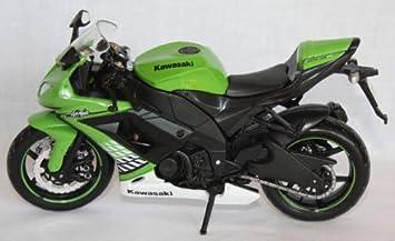Moto modelo Maisto 1: 12 Kawasaki Ninja Zx 10 R Verde