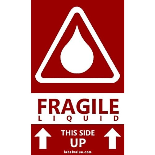 Fragile Liquid This Side Up Labels 3