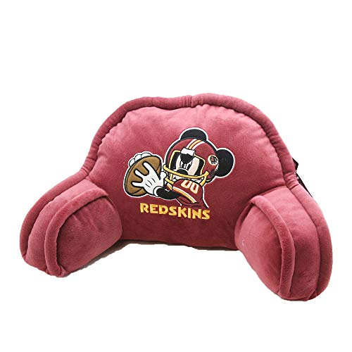 20x12 Bedrest Fan - The Northwest Company NFL Washington Redskins Mickey Mouse Plush 12-Inch-by-20-Inch Embroidered Bed Rest Pillow