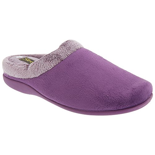 Pourpre Glenys Femme Chaussons Sleepers mules Xnqw4T1z