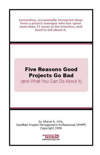 Five Reasons Good Projects Go Bad (and What You Can Do About It) Shane A. Hills