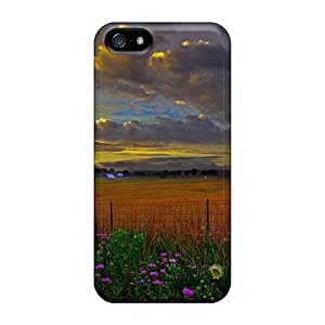 Tpu Shockproof/dirt-proof Scenic Country Farm Cover Case For Iphone(5/5s)