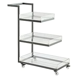 amazon com coast to coast lucite 3 tier 32 in bar cart amazon com winsome savannah kitchen cart bar amp serving
