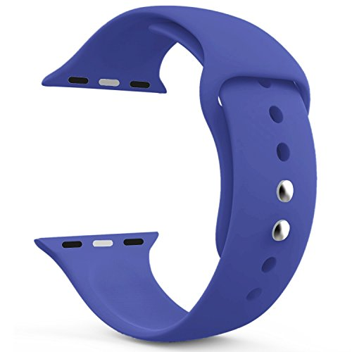 AdMaster Silicone Apple Watch Band and Replacement Sport iwatch Accessories Bands Series 3 2 1 Royal Blue 38mm S/M