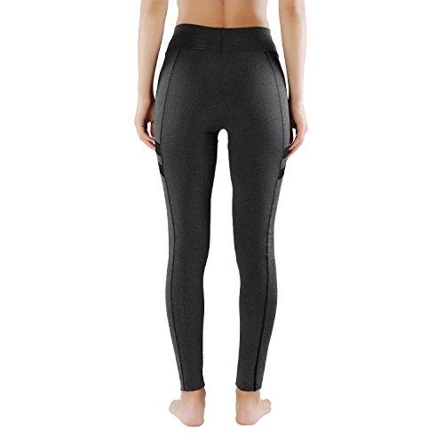 L & K de II unidad Mujer Leggings Para Entrenamiento Strech Fitness Sport Pantalón 4113 Modell-3-Orange