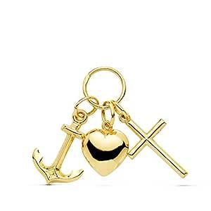 Alda Joyeros Colgante Tres Virtudes Oro Amarillo 18 Kilates (750 ...