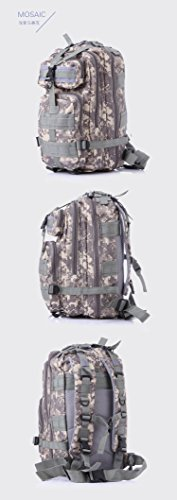 3P Outdoor Tactical Backpack 20-35L Military bag Army Trekking Sport Travel Rucksack Camping Hiking Trekking Camouflage Bag (Lavender mosaic) by Unknown (Image #3)