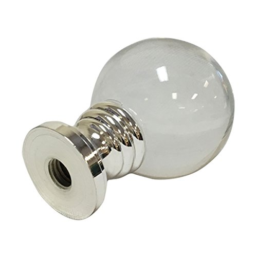 Royal Designs Clear Crystal Ball Lamp Finial with Polished Silver Base by Royal Designs, Inc (Image #3)