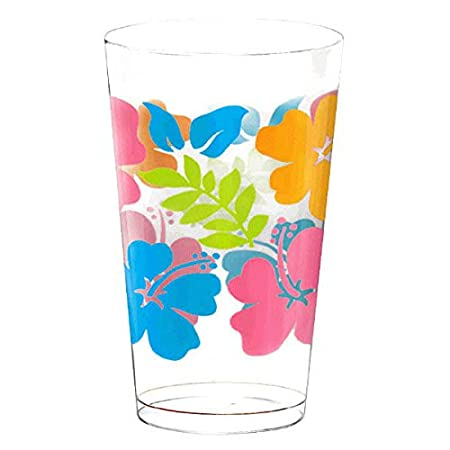 Amscan Hibiscus Party Tumblers 16 oz 25 Ct.