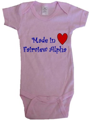 MADE IN FAIRVIEW ALPHA - FAIRVIEW ALPHA BABY - City Series - Pink Baby One Piece Bodysuit - size Small - Fairview 10