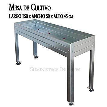 Table de culture acier galvanisé. Dimensions : Longueur 150 ...