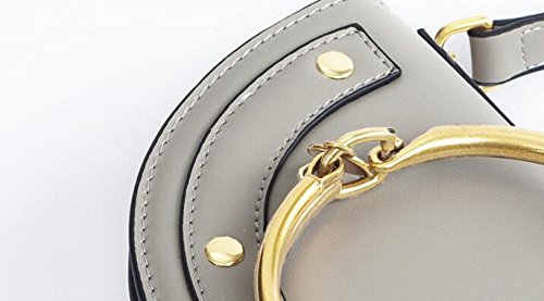 Handbags Ring Handle large Black Shoulder Messenger Women's Bag ZOTxdwAnTz