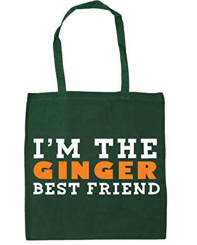 Hippowarehouse Nello Zenzero Best Friend Shopping Bag Borsa Da Palestra 42cm X38cm, 10 Litri - Donna, Bottiglia Verde, Taglia Unica