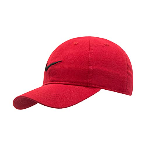 Nike Kids' Little Classic Twill Basball Hat, Black/Gym Red, 4/7 (Cap Nike Plain)
