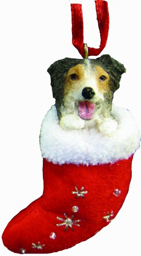 - Australian Shepherd Christmas Stocking Ornament with
