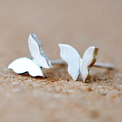 Wicary Sterling Silver Butterfly Earrings