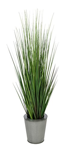 House of Silk Flowers Artificial 44-inch Grass in Silver Round Zinc by House of Silk Flowers